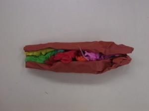 トイレットペーパーで作りました